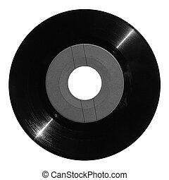 Vinyl record with gray label
