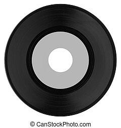 Vinyl record with grey label
