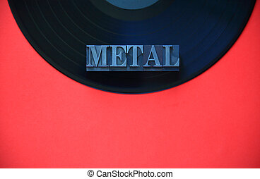 Vinyl record with metal word