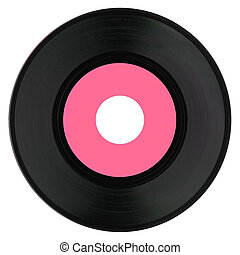 Vinyl record with pink label