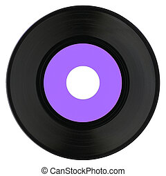 Vinyl record with purple label