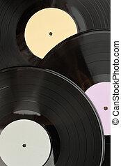 Vinyl records background.