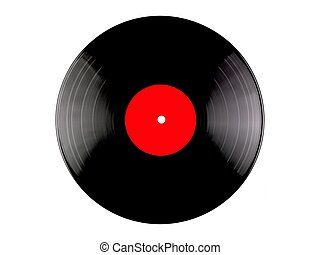 Vinyl Records - Vinyl records isolated against a white...