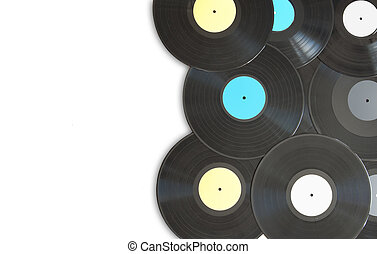 Vinyl records with space