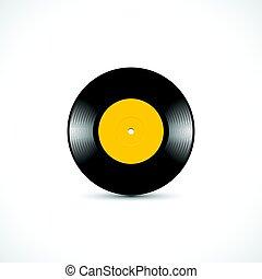 vinyl skiva, 7, tum, ep, med, glänsande, återstående tid spåret