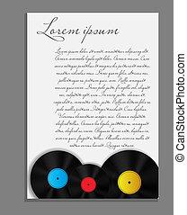 vinyl teckna uppe, bakgrund, nit sida, vektor, illustration