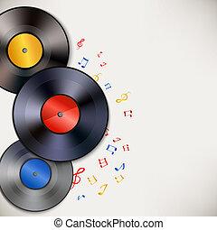 vinyl teckna uppe, bakgrund