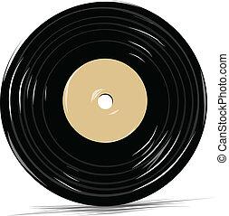 Vinyl vector icon cartoon sketch illustration