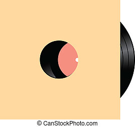 Vinyl record with several musical compositions. Vector illustration.