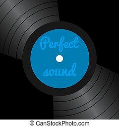vinyle, couverture, disques