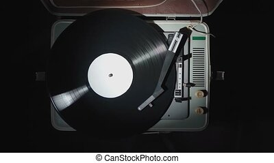vinyle, rotation, vendange, enregistrement, phonographe, ...