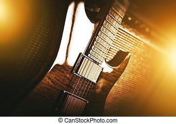 violão elétrico, tema