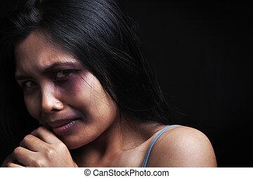 violência, doméstico, vítima