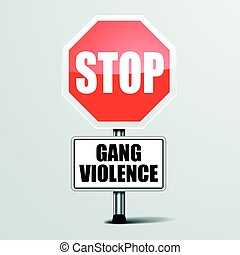 violência, parada, bando