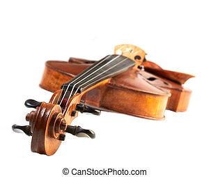 violín, blanco