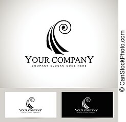 violín, concepto, logotipo