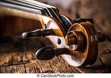 violín, estilo, vendimia