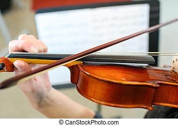 violín, lección