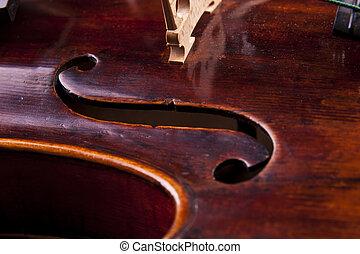 violín, objekt, arte, cuerda, musical