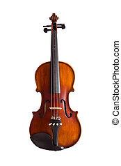 violín, recorte, aislado, trayectoria