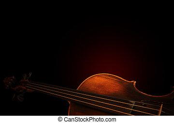 violín, silueta