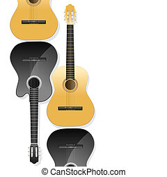 violões, fundo