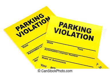 violação estacionando