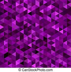 viola, astratto, triangolo, fondo