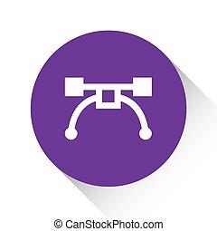 viola, attrezzo, -, isolato, penna, fondo, bianco, icona