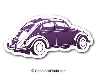 viola, auto, carta, vecchio, dolce
