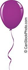 viola, balloon, nastro