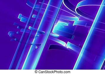 viola, blu, contorno