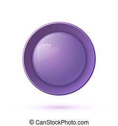 viola, bottone, lucido, icona