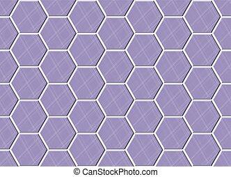 viola, concreto, astratto, bagno, lastricatore, blocks., illustrazione, struttura, mosaico, disegno, vettore, seamless, tegole, decorazione, floor., esagonale, geometrico, ceramica, modello