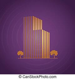 viola, costruzioni, sopra, albero