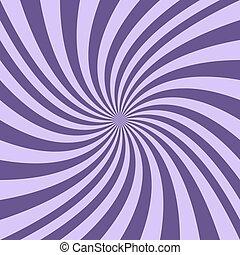 viola, curvo, raggi, spirale, fondo