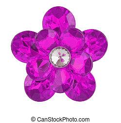 viola, diamante, fiore