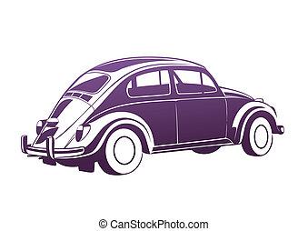 viola, dolce, vecchio, auto