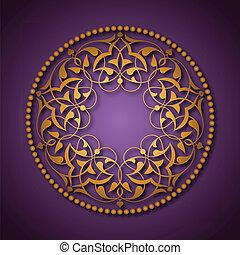 viola, dorato, sopra, ottomano, modelli