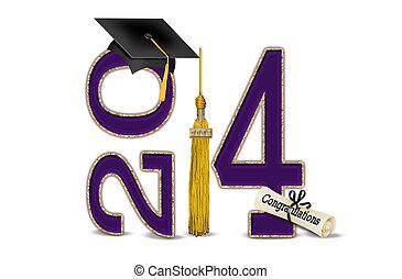 viola, e, oro, per, 2014, graduazione