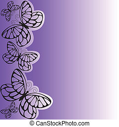 viola, farfalla