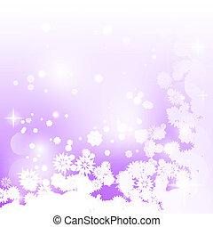 viola, fiocchi neve, fondo