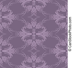 viola, floreale, carta da parati, lusso
