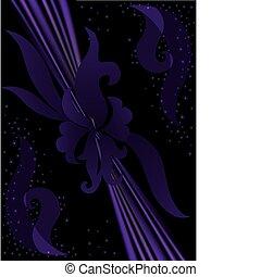 viola, floreale, fondo