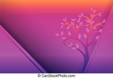 viola, giallo, puntino, fondo
