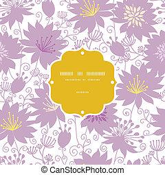 viola, modello, cornice, seamless, florals, fondo, uggia