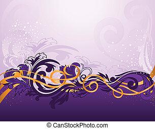 viola, modello, orizzontale