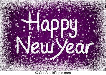 viola, nuovo, messaggio, felice, anno