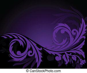 viola, orizzontale, ornamento