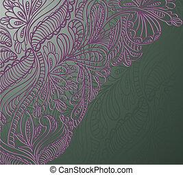 viola, ornamento, su, verde